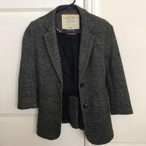 ANTHROPOLOGIE cartonnier tweed blazer jacket